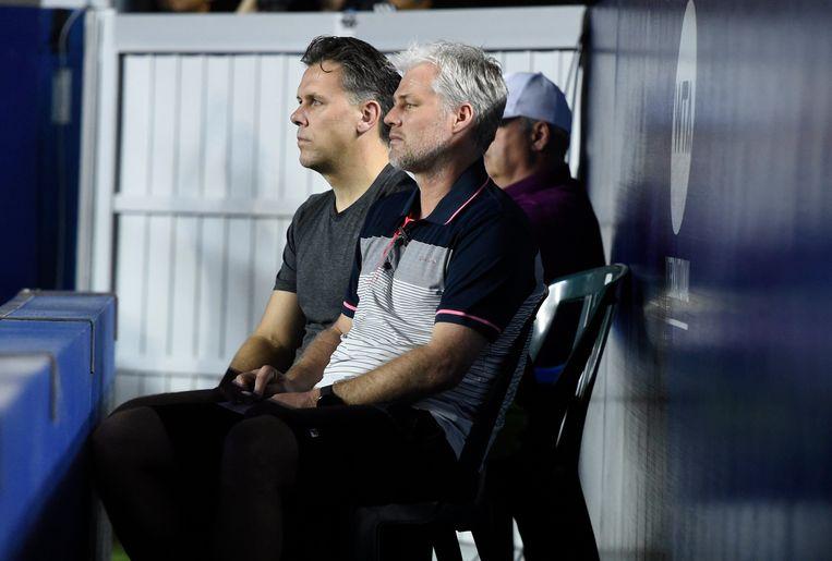 Coach Fred Hemmes en kine Sam Verslegers.