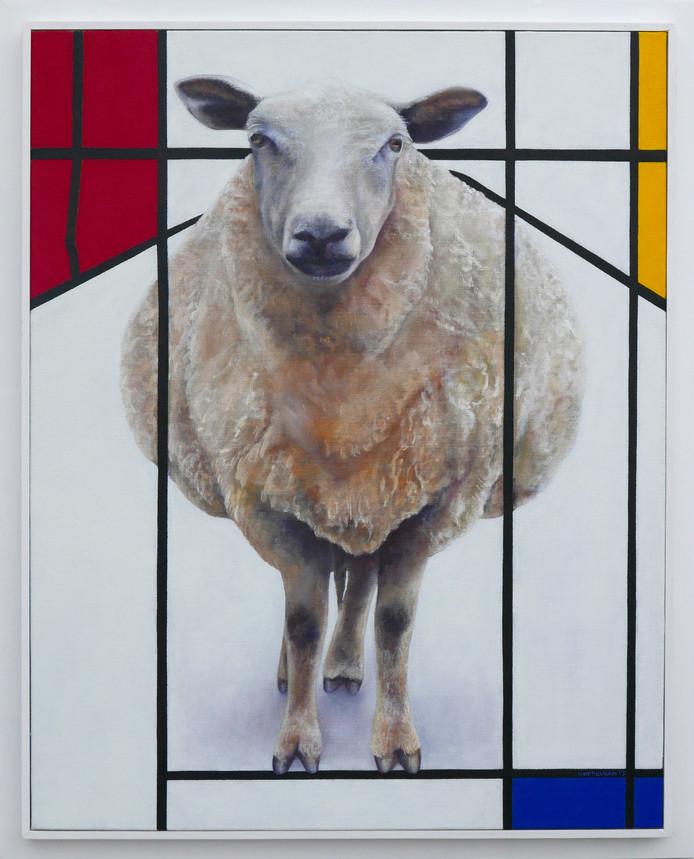Het 'Mondriaanschaap' van kunstenaar Jos Verheugen.