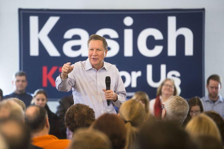 John Kasich op een campagnebijeenkomst Beeld null