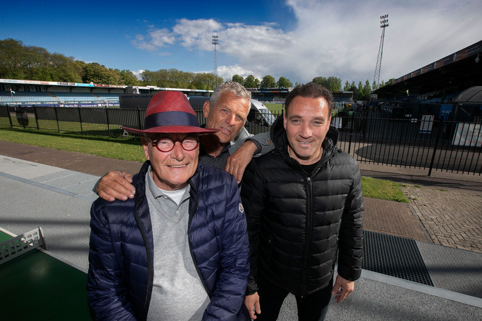 Vlnr. Ed Creemers, Guido Donders en huidig lid van de raad van commissarissen Pieter van der Leegte.