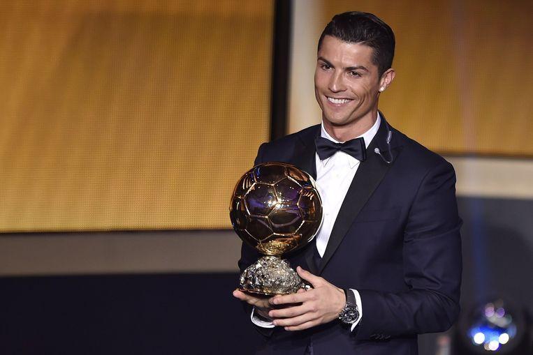 Cristiano Ronaldo is voor de derde keer uitgeroepen tot wereldvoetballer van het jaar. Beeld anp