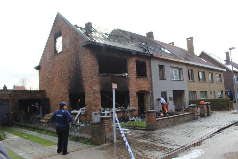 Het huis werd volledig vernield.