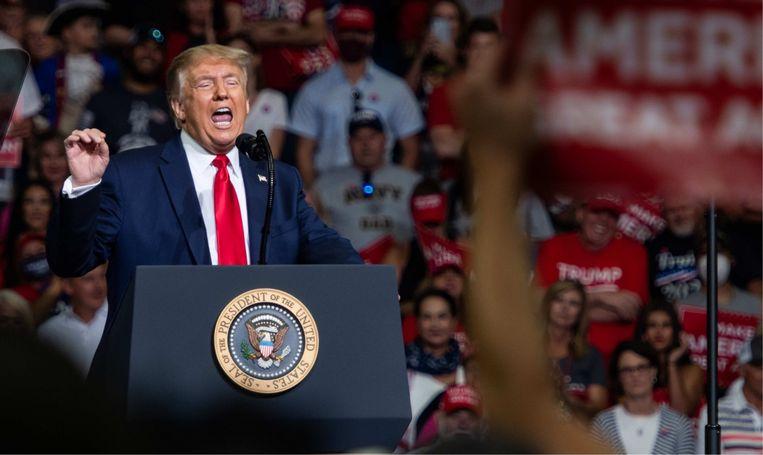 Björn Soenens: 'Trump is doodsbang en slaat wild om zich heen. Zijn campagnetempo is moordend. Hij is 74 en hangt de sterke beer uit, maar stel je voor dat hij opnieuw ziek wordt.' Beeld