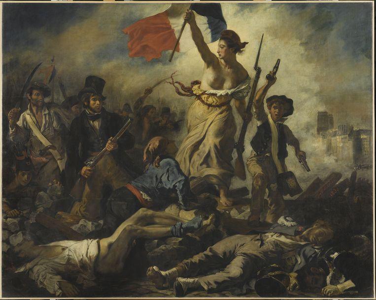 Eugène Delacroix: Le 28 Juillet: Liberté guidant le Peuple. Musée du Louvre, Parijs. Beeld RMN-Grand Palais (Musée du Louvre)/Michel Urtado