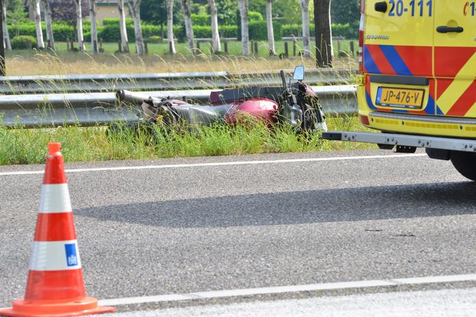 ongeval A58 met motorrijder ter hoogte van ruchpen