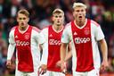 Kaj Sierhuis in zijn tijd bij Ajax met Matthijs de Ligt en Rasmus Kristensen.