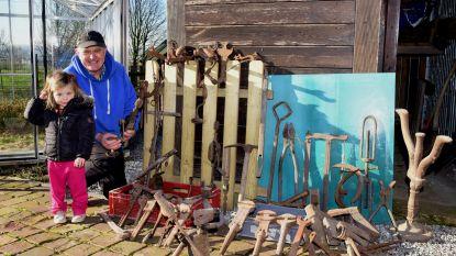 Georges geeft zijn verzameling oude werktuigen weg