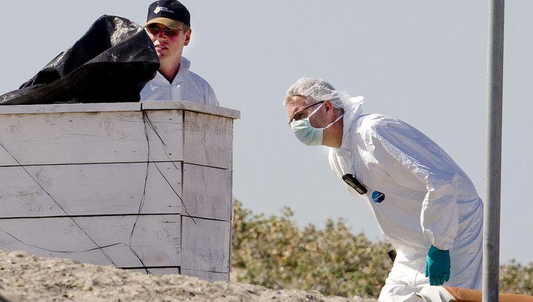 Het onderzoek bij het strand van Hoek van Holland is klaar. Foto ANP Beeld