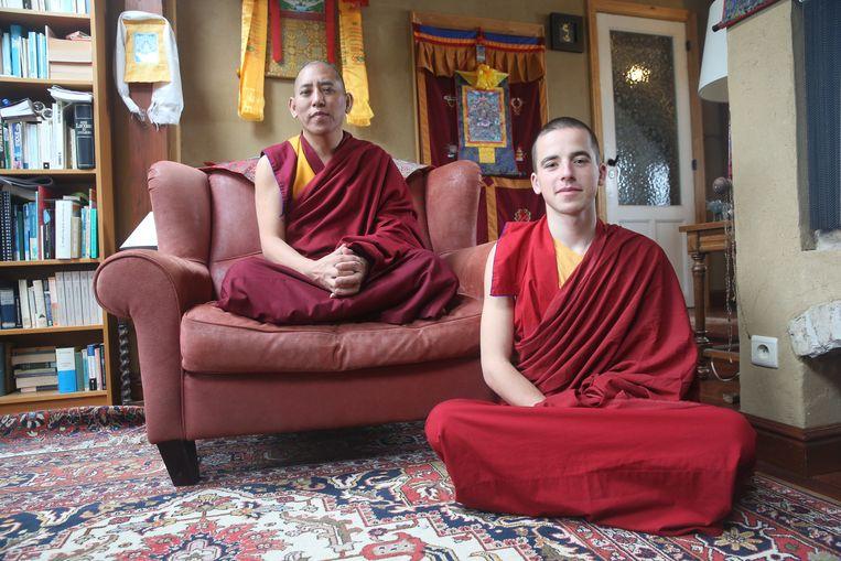 Monnik Giel en Gebshe Lobsang Tsultrim, een doctor in de boeddhistische filosofie.