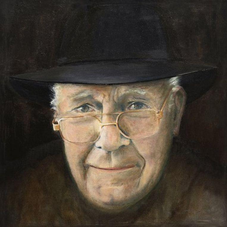 Een portret van Hubert Carpentier, geschilderd door zijn dochter Marie.