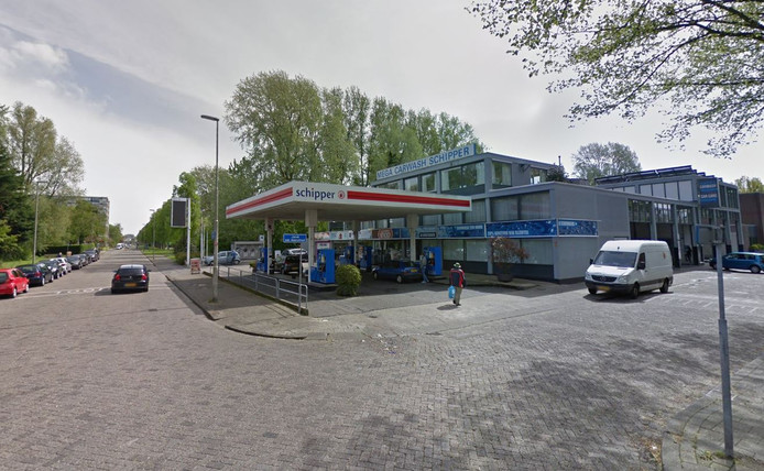 Het tankstation aan de Hendrick Staetsweg.