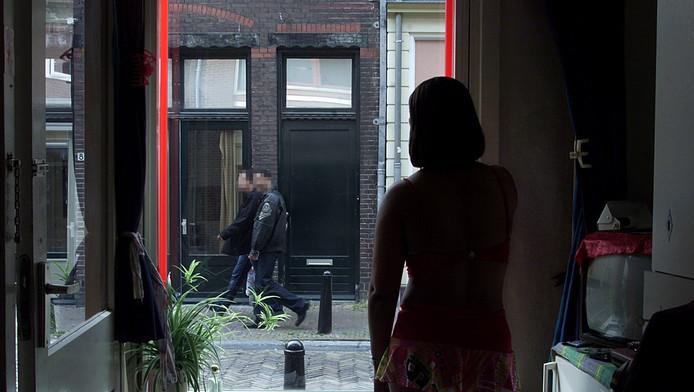 Een prostituee in de Hardebollenstraat