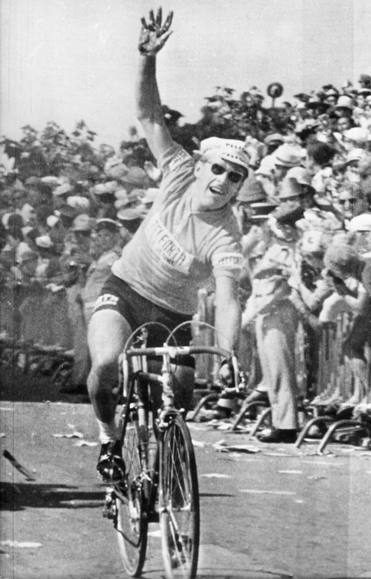 Jan Janssen won tijdens de Tour van 1968 ook de 14de etappe (Perpignan - Canet Plage). Beeld