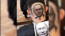 VIDEO. Kapper leeft zich uit met scheerapparaat en brengt Poetin tot leven in haar van klant