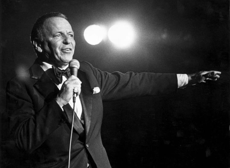 De Amerikaanse zanger Frank Sinatra.