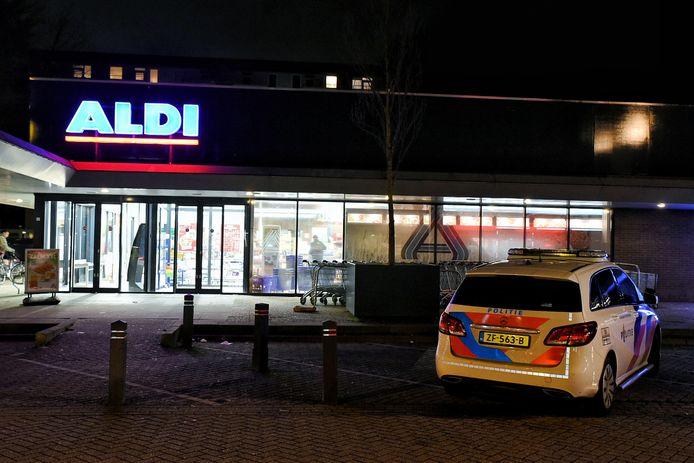 Overval op Aldi in Tilburg.