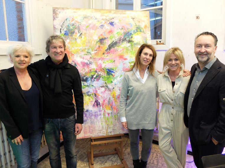 An Nelissen, Peter Everaert van Art-Is-Sjok, Kathleen, Astrid en Patrick