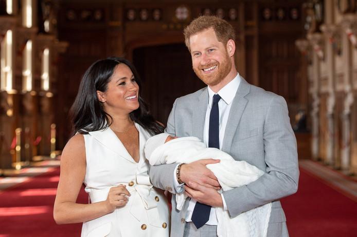 Harry met zijn vrouw Meghan en hun zoontje Archie.
