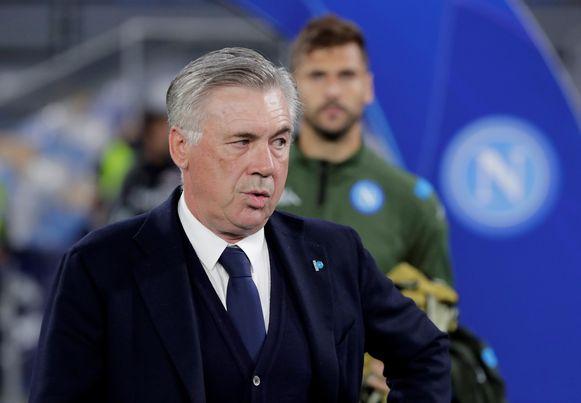 Napoli-coach Carlo Ancelotti keerde wel terug naar het afzonderingsoord.