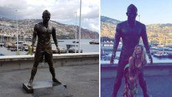 Standbeeld Ronaldo begint de gevolgen te dragen van bezoek vrouwelijke fans