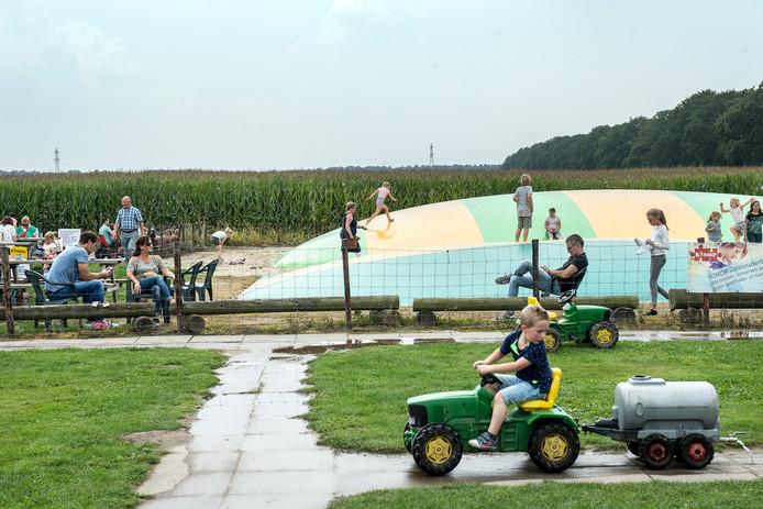 Het maisdoolhof in Malden.
