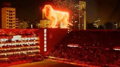 Zag je al iets cooler dan dit? Argentijnse club laat gigantische 'leeuw' los op stadion
