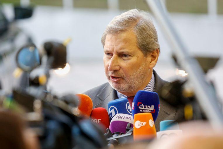 Johannes Hahn, aankomend begrotingscommissaris van de Europese Unie Beeld EPA
