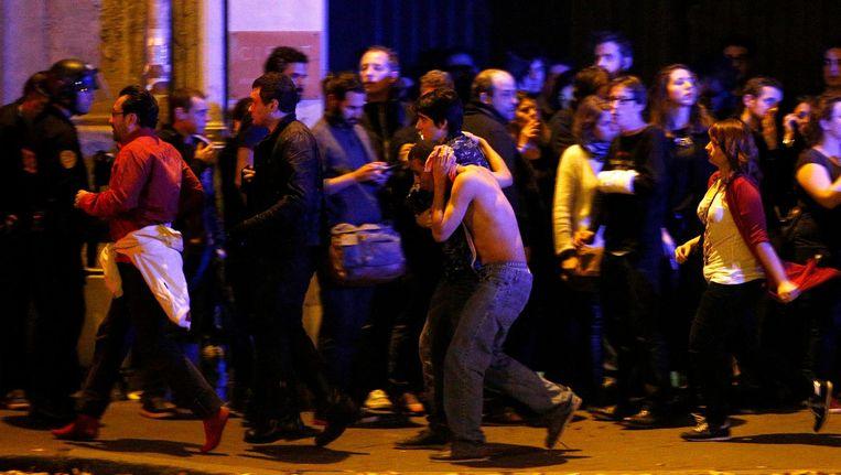 Negentig doden vielen door de aanslag in concertzaal Bataclan. Beeld EPA