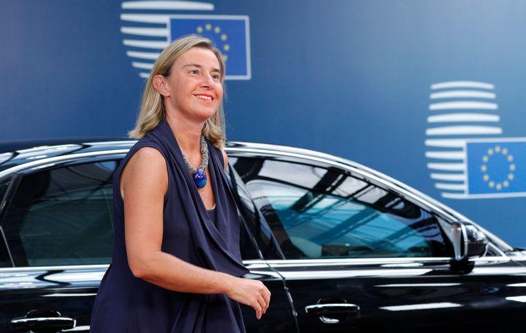 Federica Mogherini, de hoge vertegenwoordiger van het buitenlands beleid van de EU.