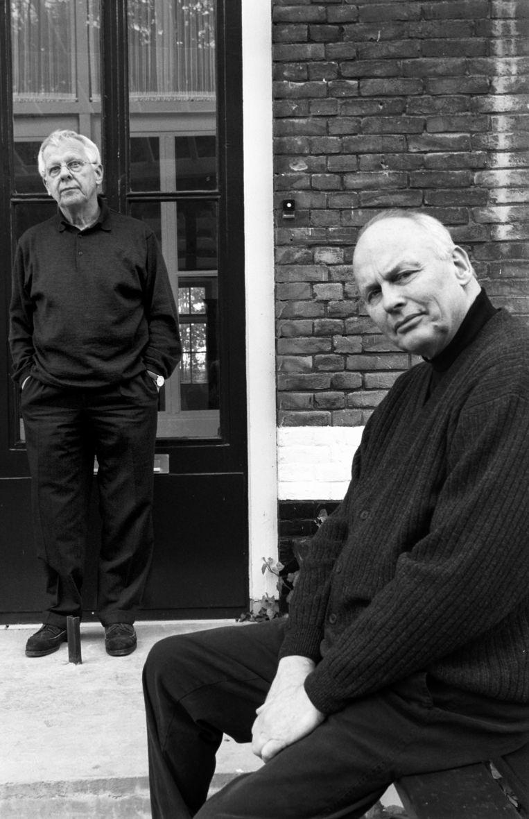 Van Ravesteijn (r) en van Beijeren (l) in 2001. Beeld HH