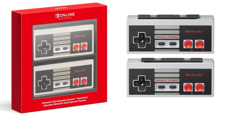 De draadloze NES-controller voor de Nintendo Switch.
