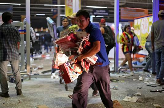 Plunderingen in Veracruz.