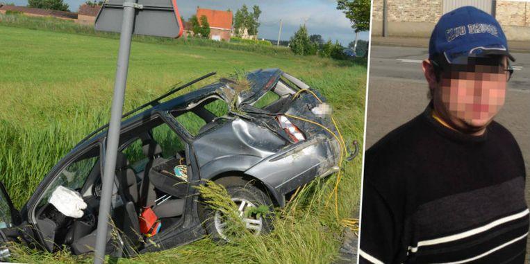 Vorig jaar veroorzaakte Manolito H. (rechts) al een zwaar ongeval toen hij dronken achter het stuur had. Zijn zoontje van vijf vloog toen uit de auto en belandde in coma.