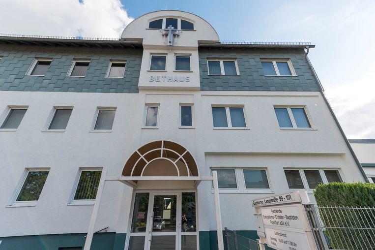 Een kerkdienst in Frankfurt leidde deze maand tot meer dan honderd coronabesmettingen. Beeld Getty Images