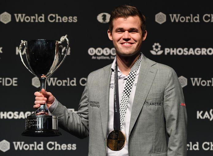 Wereldkampioen Magnus Carlsen.