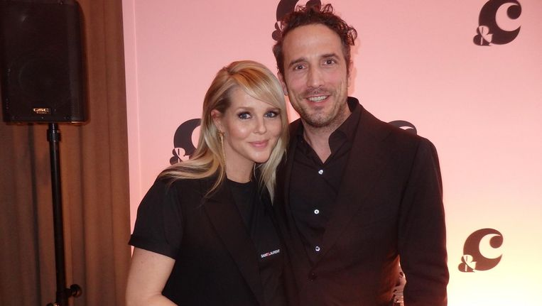Boegbeeld Chantal Janzen en haar man en co-founder Marco Geeratz. Beeld Schuim