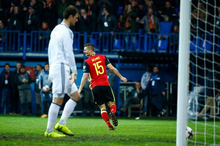 Meunier jaste al na vier minuten een assist van Hazard in doel: 0-1.
