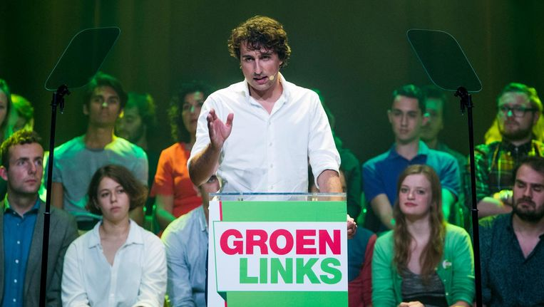 GroenLinks-lijsttrekker Jesse Klaver bij de presentatie van van het partijprogramma in september. Beeld null