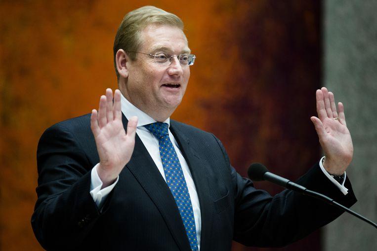 Minister Ard van der Steur van Veiligheid en Justitie na afloop van het debat over de foto van Volkert van der G. Beeld null