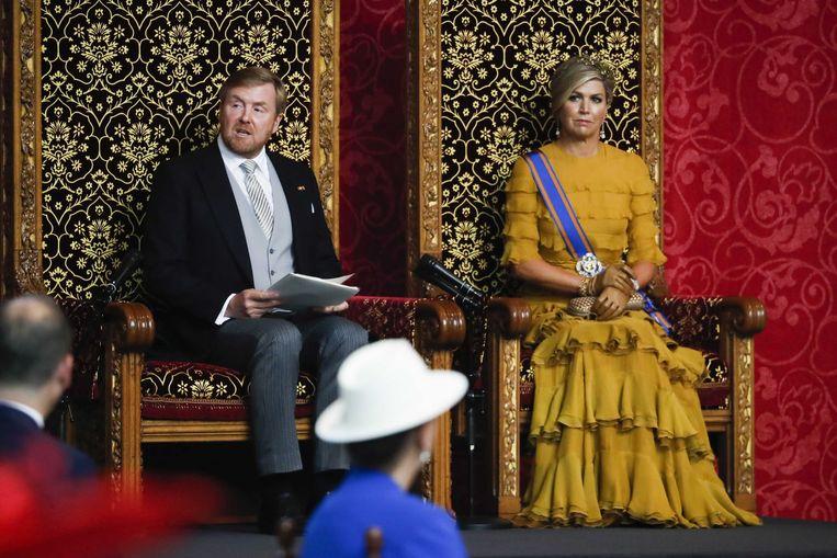 Koning Willem-Alexander benadrukte dat de regering niet gaat bezuinigen als reactie op de economische crisis, maar investeren. Beeld ANP