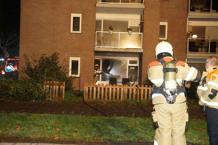Brand in appartementencomplex Drunen.