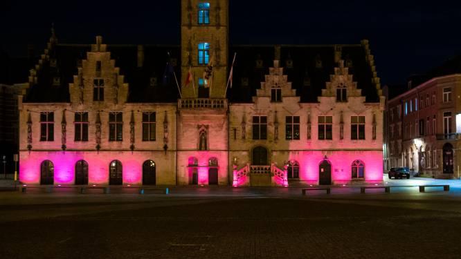 Stadhuis kleurt roze voor Think Pink