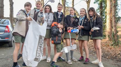Scouts en Gidsen ruimen zwerfvuil op