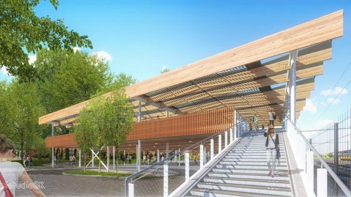 De achterkant van Station Dordrecht krijgt een compleet nieuw uiterlijk.