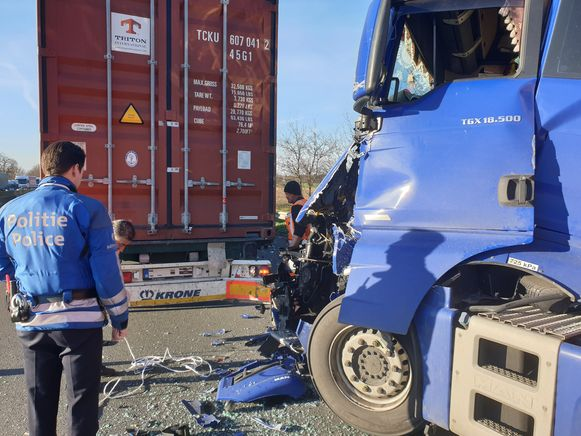 In de staart van de file gebeurde nog een tweede ongeval.