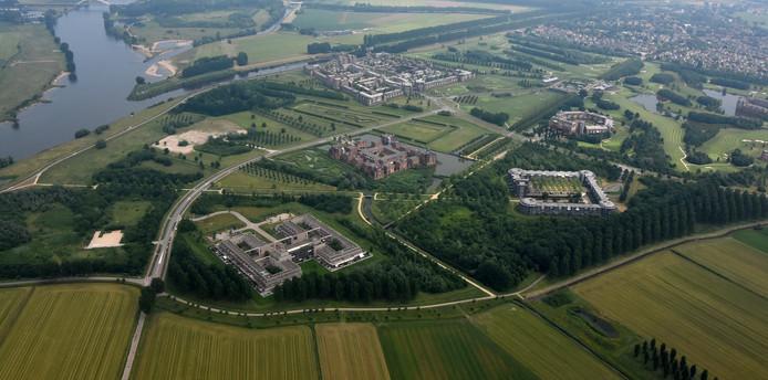 De kasteelwoningen in de Haverleij.