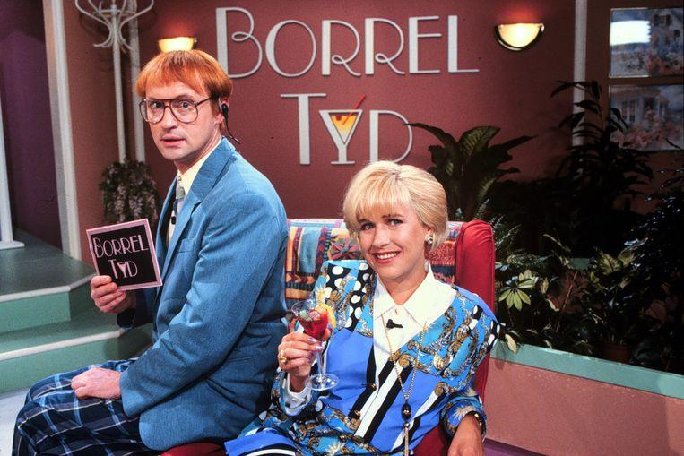 Borreltijd met Arjan Ederveen en Tosca Niterink, 1996.  Beeld ANP Kippa