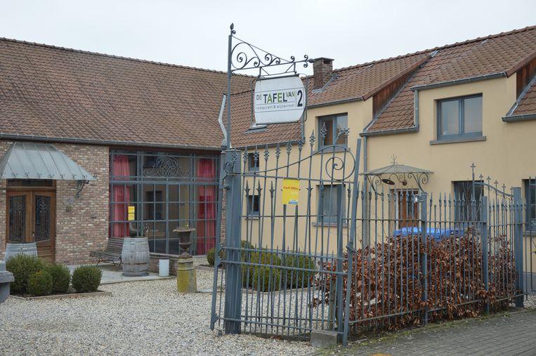 Restaurant 'De Tafel van 2' in de Bovenhoekstraat in Outer (Ninove).