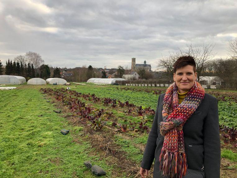 Coördinator Sara Heyvaert van Den Diepen Boomgaard is heel tevreden met de steun van de Nationale Loterij.