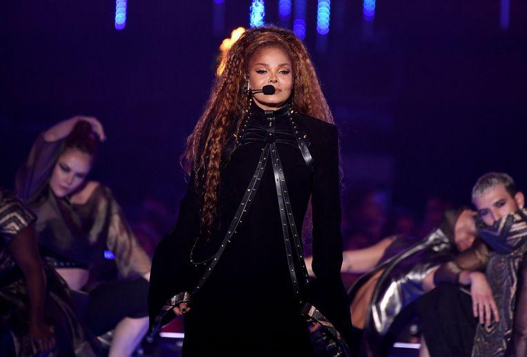 Janet Jackson koos voor zwart.